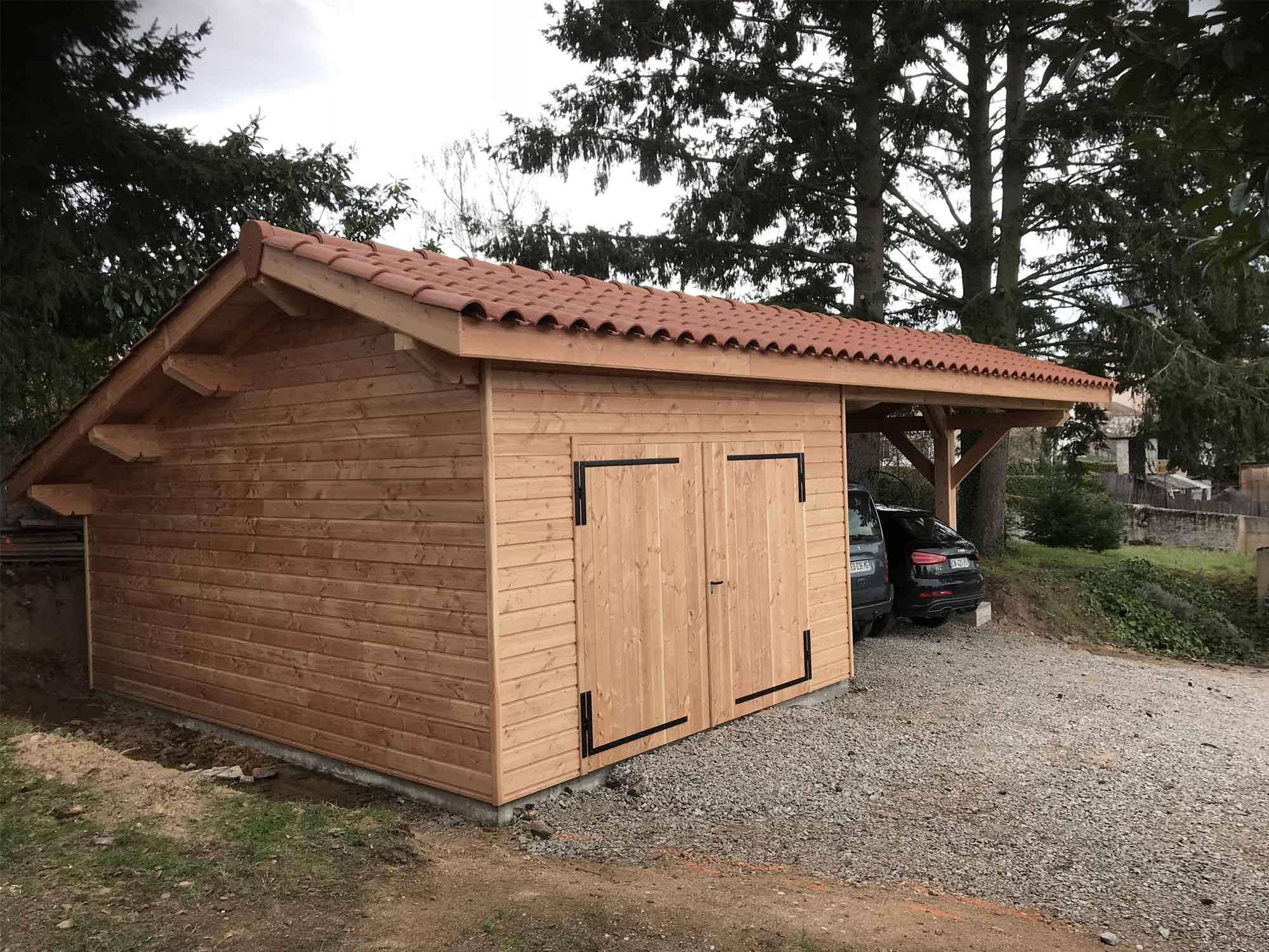 abri jardin bois Loire 42