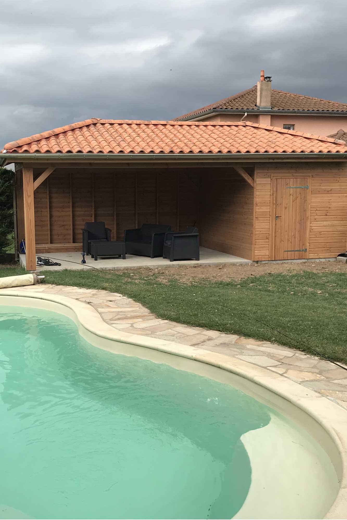 abri piscine Bois Gonon